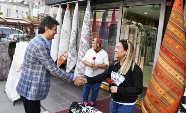 Ak Parti İlçe Başkanı Ahmet Özcan'ın İçerenköy Esnaf ve Ak Nokta ziyareti 2018