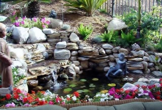 Сделать самому водопад в саду