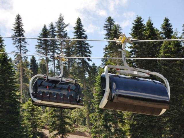 Ilgaz Dağı Yurdun Tepe Kayak Merkezi telesiyej Testi Başladı
