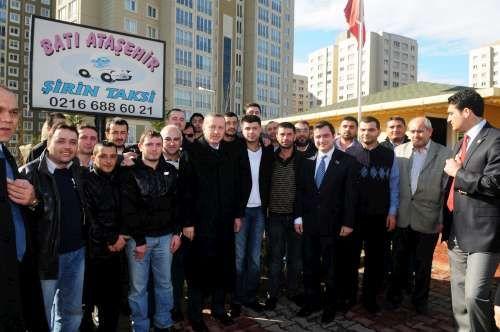 Tayyip Erdoğan, Batı Ataşehir Şirin Taksi Ziyareti