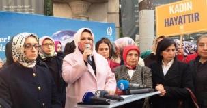 Ak Parti Kadına Şiddeti Protosto Yürüyüşü Taksim 2016