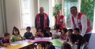 Kızılay Beykoz'dan Suriyeli ailelere  yardım