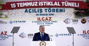 Ilgaz 15 Temmuz İstiklal Tüneli Açılış Fotoları 2016