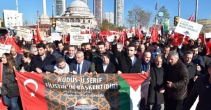 İsrail Amerika, Kudüs İşgali Ataşehir'de Protesto Edildi 2017