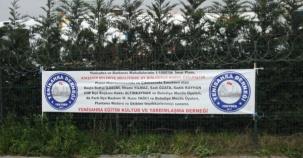 Yenisahra 1/1000 Planı Teşekkür Pankartı