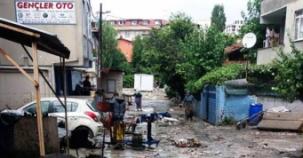 Ataşehir, Yenisahra, Ali Fuat Cebesoy Köprüsü Sel Baskını Fotoları 18 Temmuz 2017