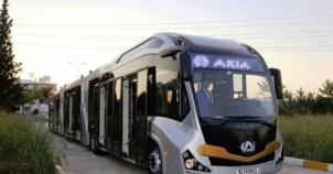 Türkiye'nin ilk yerli metrobüsü Akia