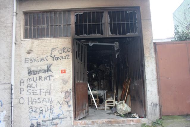 Yenisahra, Döşemeci Fevzi Ustanın Dükkan Yangını Fotoları 2018
