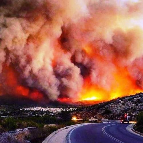 Yunanistan Doğal Afet, Orman Yangını 2018