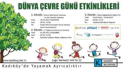Dünya Çevre Günü için Kadıköy de renkli etkinlikler