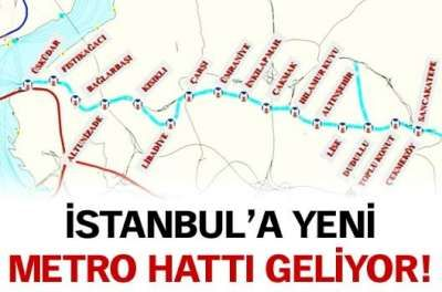 İstanbul Anadolu Yakası'na yeni metro hattı