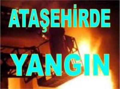 Ataşehir'de Yangında 10. Katta Mahsur Kaldı