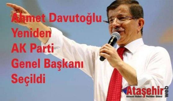 Davutoğlu yeniden AK Parti Genel Başkanı Seçildi
