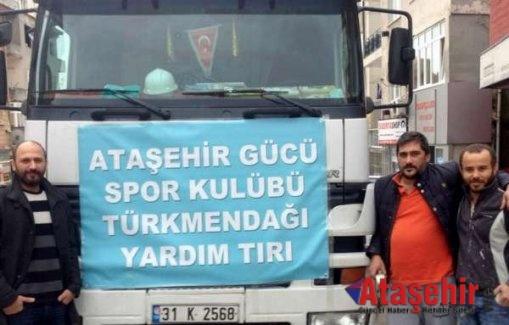 Ataşehir Gücü'nden türkmenlere yardım
