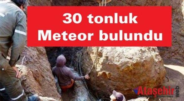 30 tonluk meteor bulundu