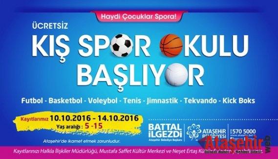 """Ataşehir Belediyesi'nin """"Kış Spor Okulu"""" kayıtları 10 Ekim'de başlıyor."""