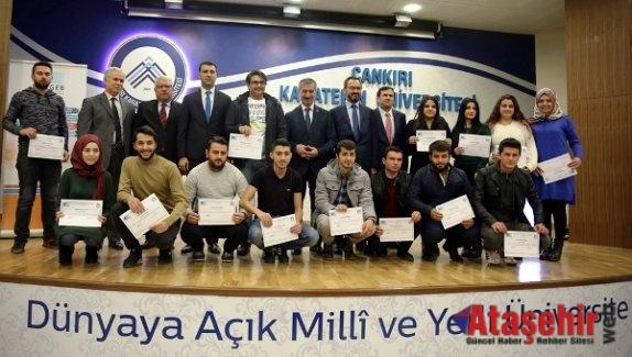 Çankırı'da  KOSGEB Girişimcilik Sertifika Töreni Gerçekleştirildi