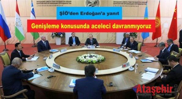 ŞİÖ'den Erdoğan'a yanıt: Genişleme konusunda aceleci davranmıyoruz