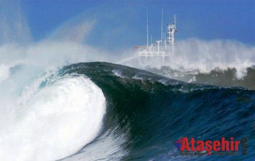 Dünyanın en büyük dalgası kaydedildi: 19 metre