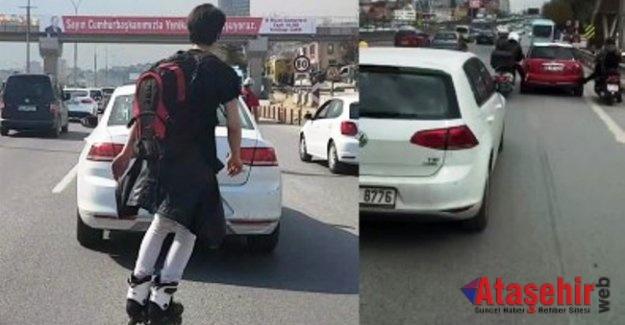 İstanbul Trafiğinde Pes Dedirten Görüntüler