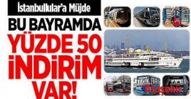 İSTANBUL'DA RAMAZAN BAYRAMI'NDA ULAŞIM %50 İNDİRİMLİ
