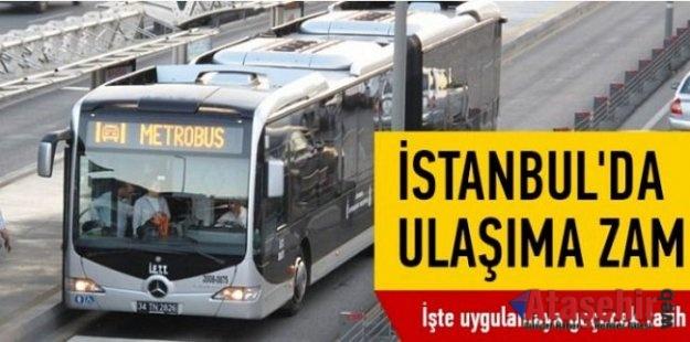 İstanbul'da Toplu ulaşım ücretlerinde yeni tarifeye geçiliyor
