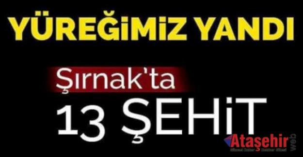 Şırnak'ta helikopter düştü: 13 şehit!