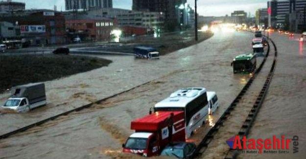 Meteoroloji  kuvvetli yağış ve sel uyarısı yaptı