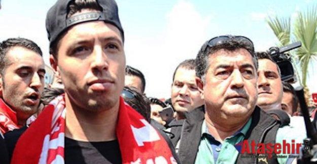 Samir Nasri, Antalya'ya geldi.