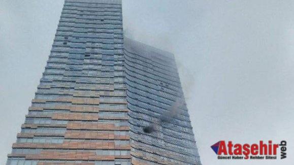 Ataşehir'de gökdelende yangını