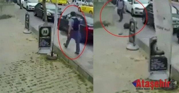 Ataşehir'de Kadına Yumruk Atan saldırgan yakalandı