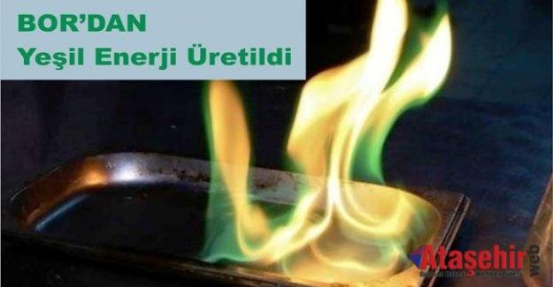 Bor'dan 'yeşil enerji' üretildi