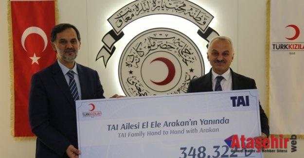 TAI çalışanlarından Kızılay'a Arakan bağışı