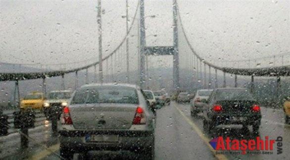 İstanbul'da kuvvetli sağnak yağış başladı