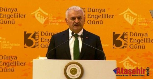 Başbakan Binali Yıldırım, 5 Bin Engelli Kardeşimizi İşe Başlatacağız'