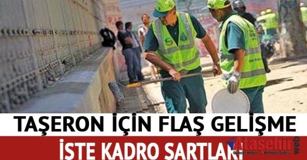 Taşeron işçilere kadro için liste yayınlandı