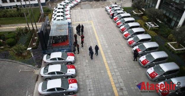 Ümraniye Belediyesinden İlçe Emniyet Müdürlüğüne 31 Araç Desteği