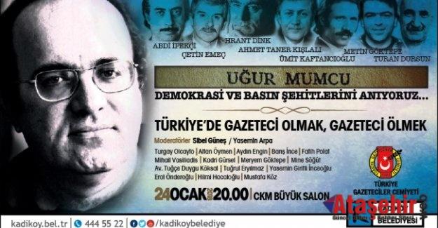 DEMOKRASİ VE BASIN ŞEHİTLERİ KADIKÖY'DE ANILIYOR
