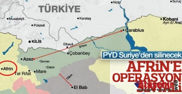Erdoğan'dan Afrin operasyonu her an başlayabilir