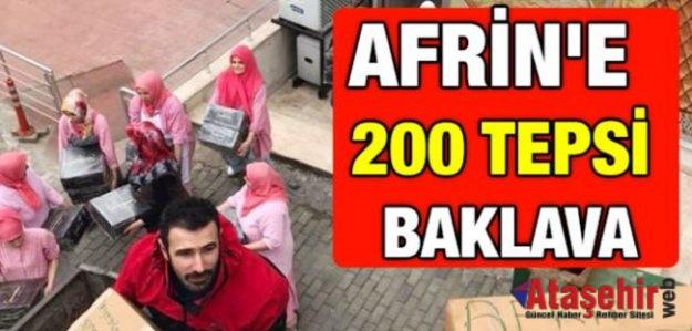 """Ataşehir'den Kınalı Kuzulara """"Baklava"""""""