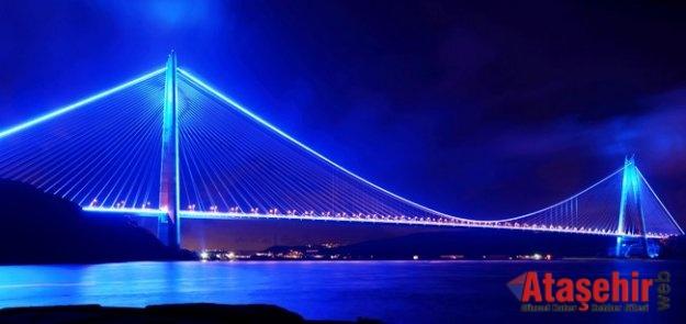 Yavuz Sultan Selim Köprüsü, mavi ve turuncu ışıklarla aydınlanacak