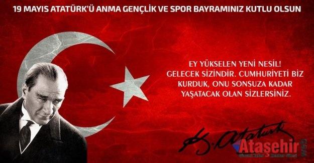 19 Mayıs Atatürk'ü Anma Gençlik ve Spor Bayramınız kutlu olsun.