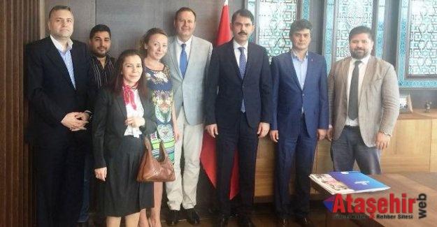 Ahmet Özcan, Emlak Konut GYO Genel Müdürü Murat Kurum'u Ziyaret etti