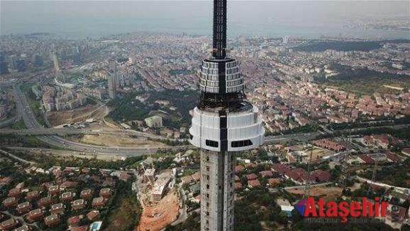 Çamlıca televizyon Kulesi inşaatında sona yaklaşılıyor.