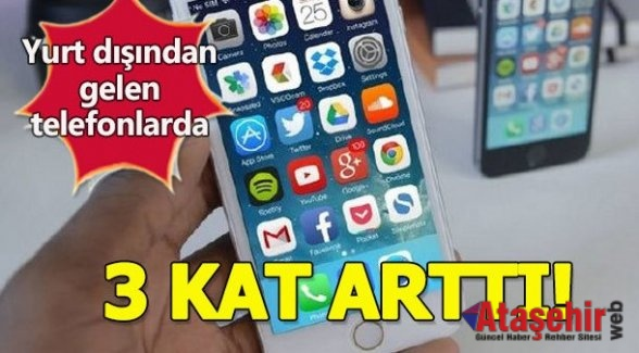CEP TELFONUNUN HARCI ARTTI