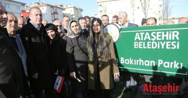 Battal İlgezdi Ekrem Bakırhan Parkı'nın açılışını yaptı