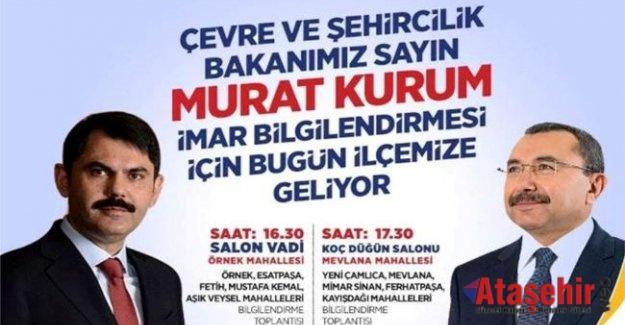 Çevre ve Şehircilik Bakanı Murat Kurum Ataşehire Geliyor