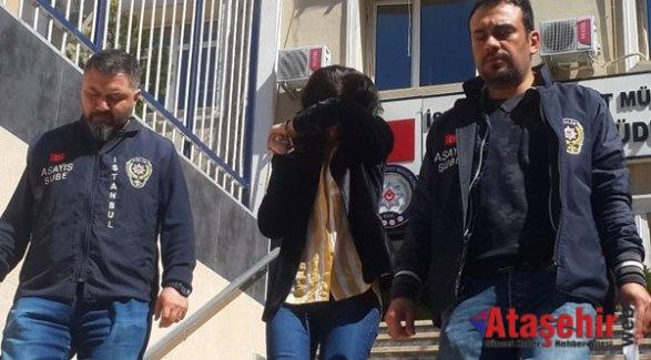 Ataşehir'de hırsızlık zanlısı kadın yakalandı