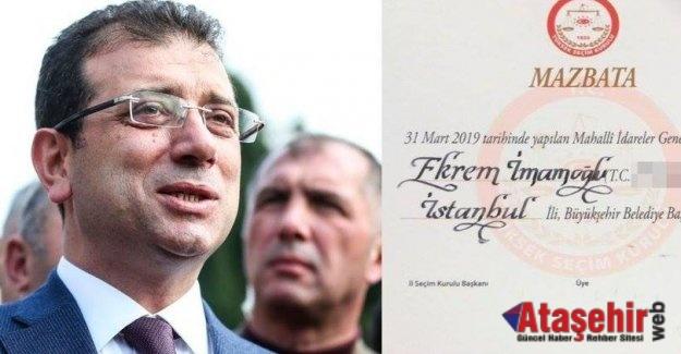 İstanbul'un yeni Belediye Başkanı Ekrem İmamoğlu