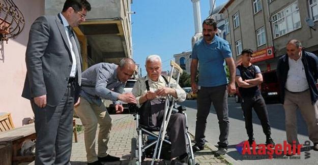 Dolandırılan Abdullah Çetinkaya'ya Ataşehir Belediyesi sahip çıktı.